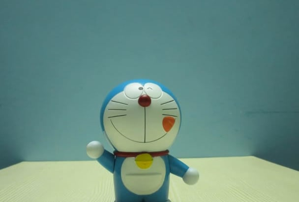 display your logo or message with Doraemon stop motion