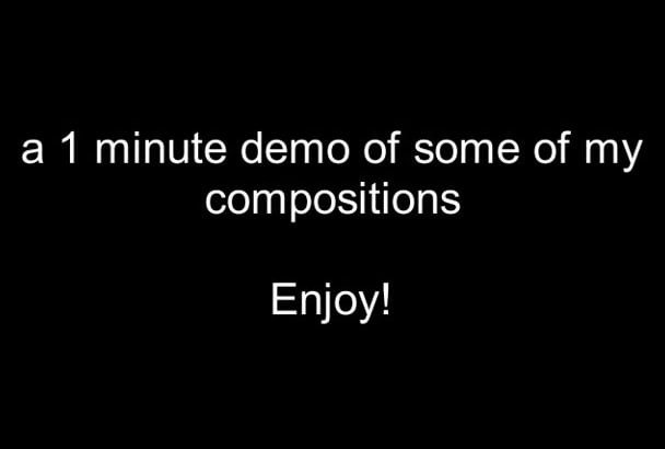 compose an intrumental song for your projects