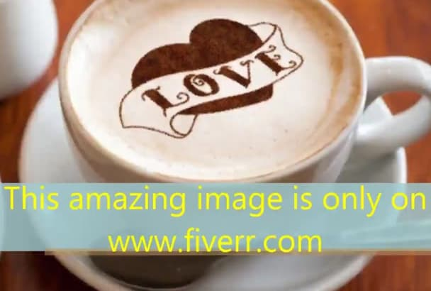 put your logo,image in a cup of COFFEE