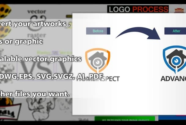 convert your artworks ,logo or graphic to scalable vector