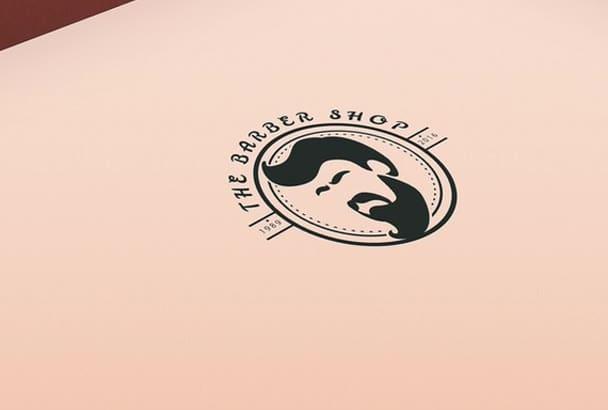 flat Minimalist logo with free source file