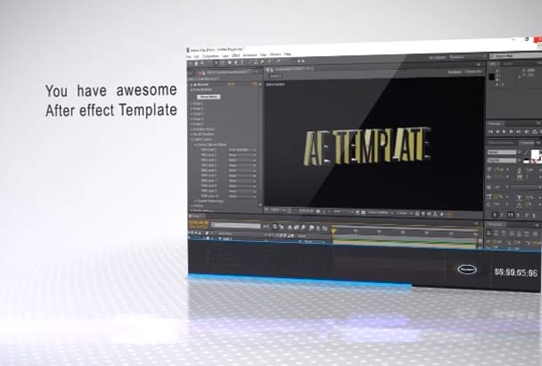 edit any after effect template from video hive