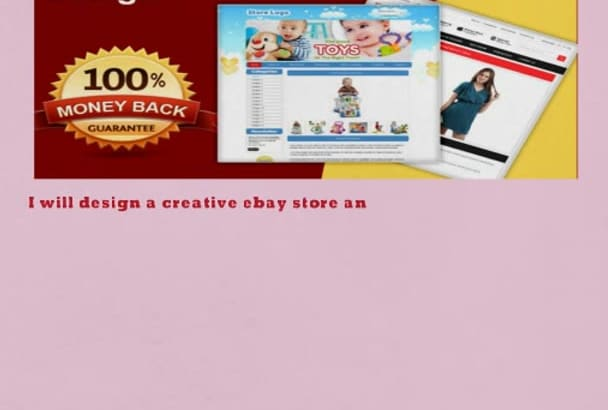design a creative ebay store and listing best template