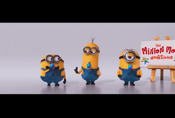 put your text and logo in this funny Minion video
