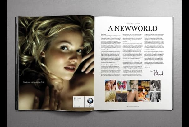 design complete magazine layout and cover