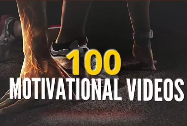 give you 100 motivational and inspirational videos