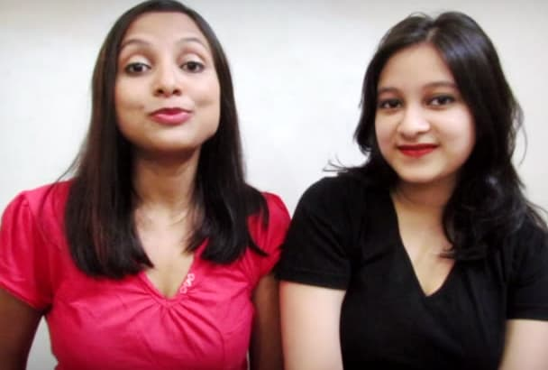 create a high impact video featuring Indian girls DUO