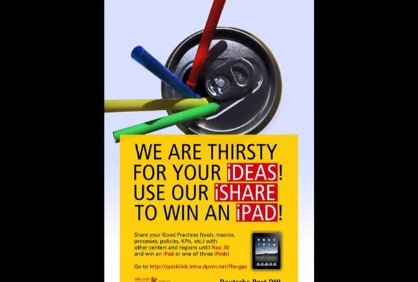 design an attractive advertising poster for you