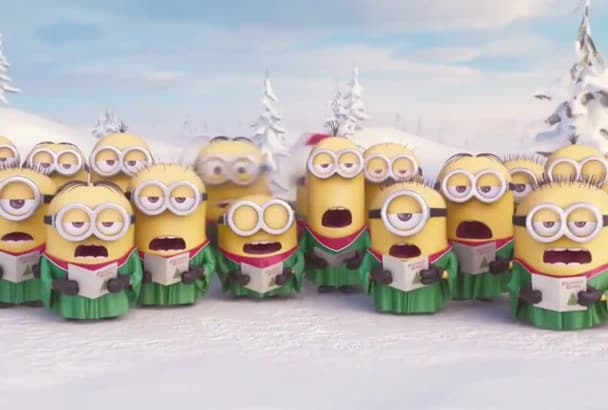 wish someone Happy Holidays in a special way with minions