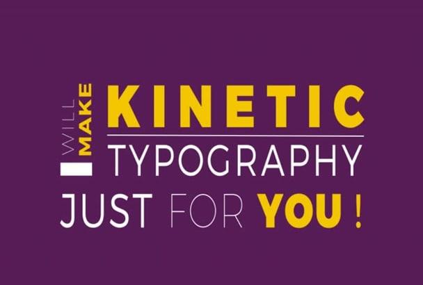 customize AMAZING Kinetic Typography Video