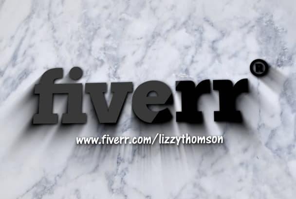 do marble IMPACT logo video intro