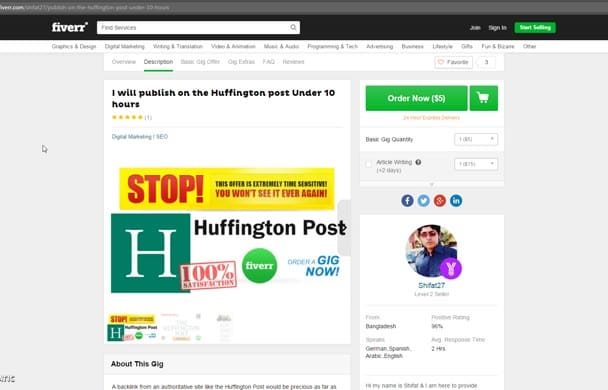 publish a Guest Post on Huffington Post Under 10 hours