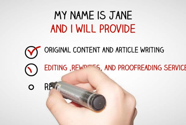 ghostwrite ebooks or proofread, edit, correct articles, stories,and more