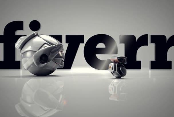 create STRIKING Robot 3d Animation Video logo advertisement