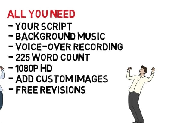 make you a great whiteboard animation for a flat rate price