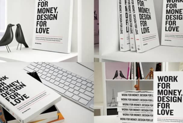 create 8 Different 3D Book Cover Mockup