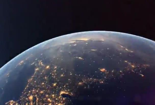 create cinematic earth video intro in full HD