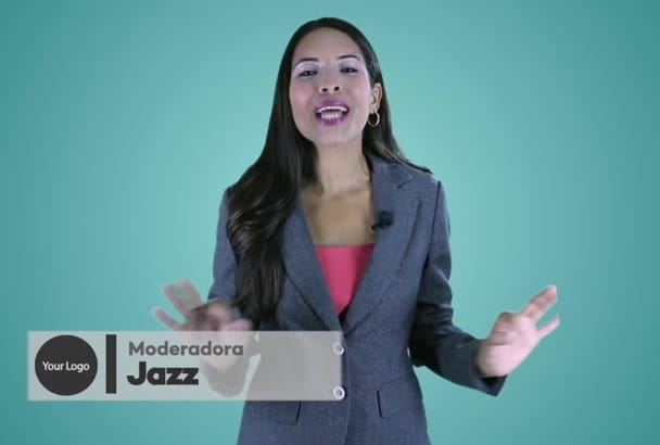 create a promotional spokesperson video commercial Spanish
