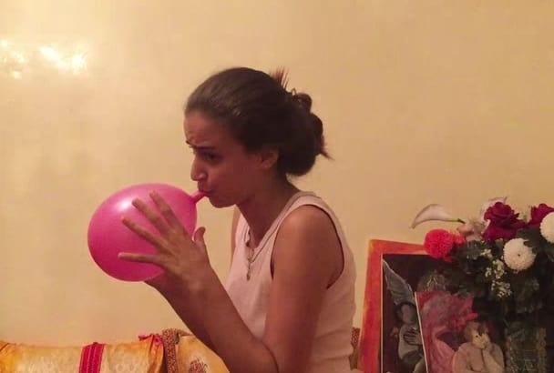 blow a big balloon to pop you search fun im the fun