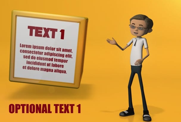 create 3D Character Animation Promotional Video