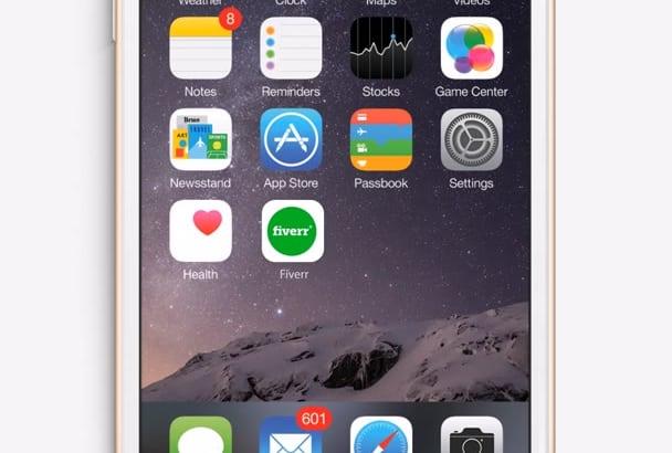 do an iPhone 6s app promotional iOS NEW