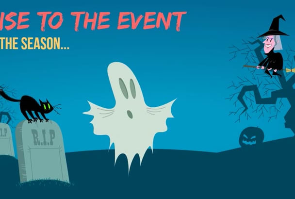 create a Halloween Invite or greeting video in 12 hours