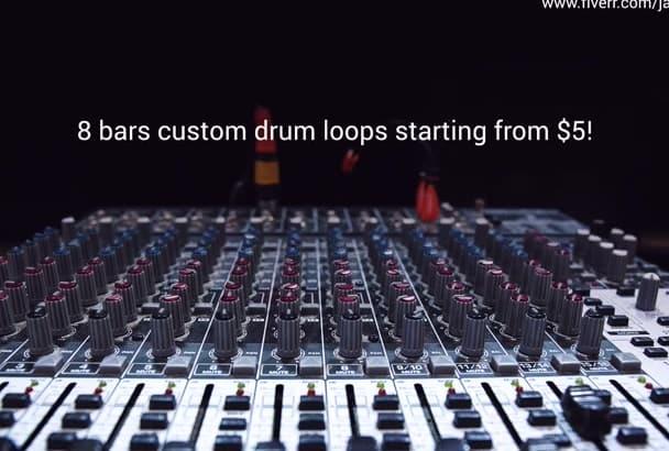 program 8 bars of custom drum loops for any genre