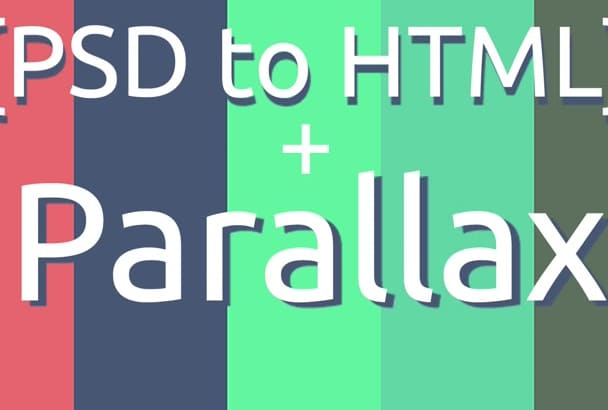 convert a psd mockup to html with a parallax