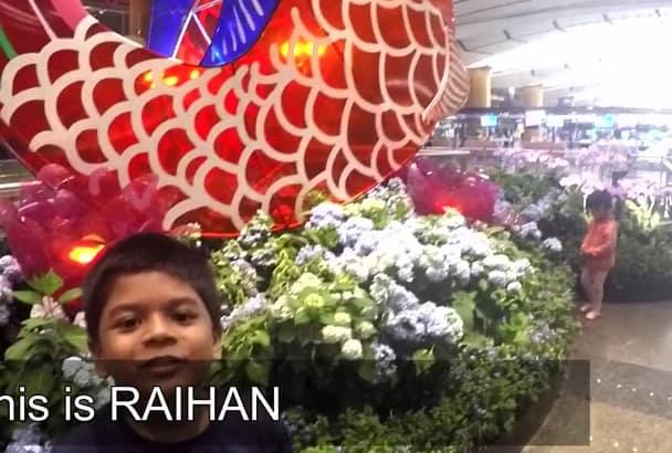 send Greetings from Singapore Changi International Airport