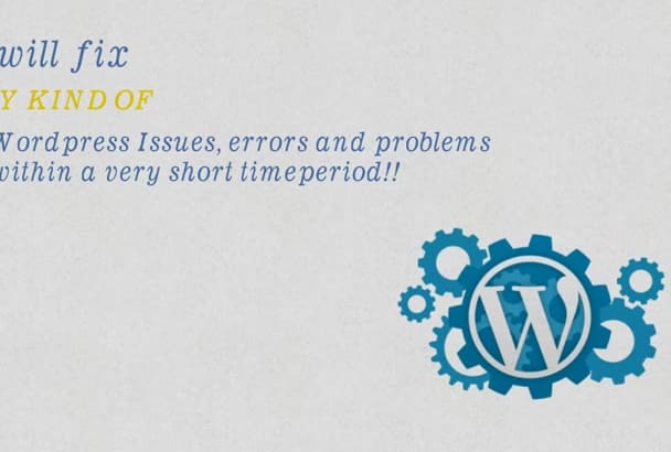 fix any errors or issues in your wordpress website