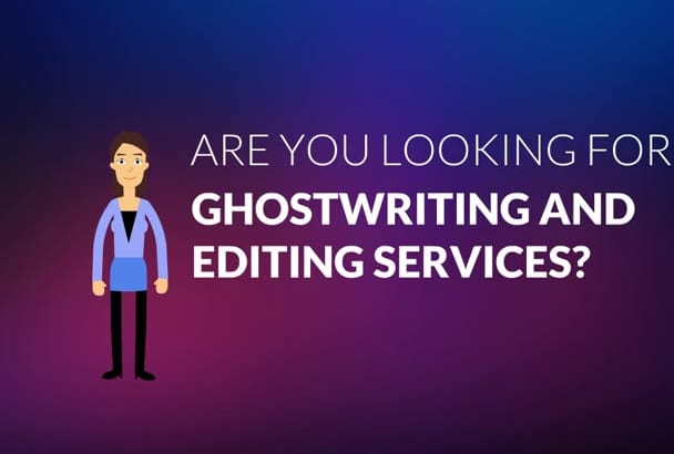 ghostwrite and edit a high quality ebook