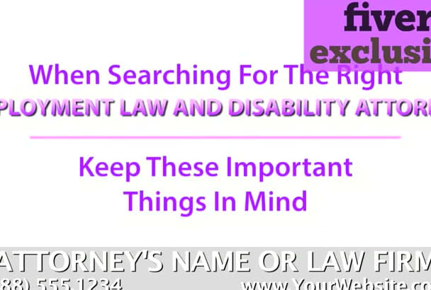 personalize a video for a Employment Law Attorney