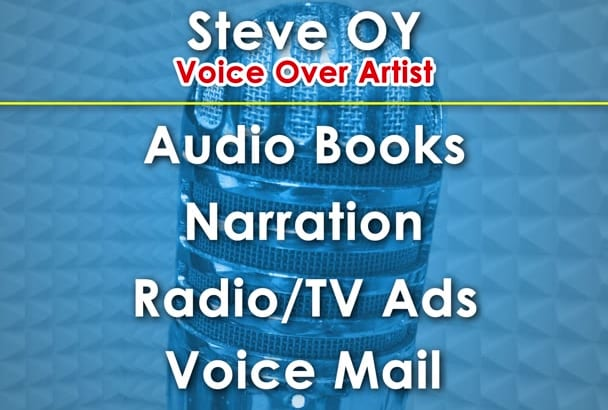 deliver to you a deep clean voice over and audio books