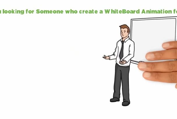 create a Professional Whiteboard animation in 24  hours