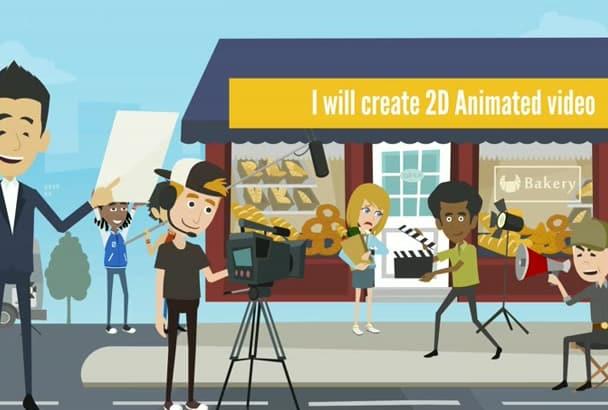 create an HQ Custom animated explainer video