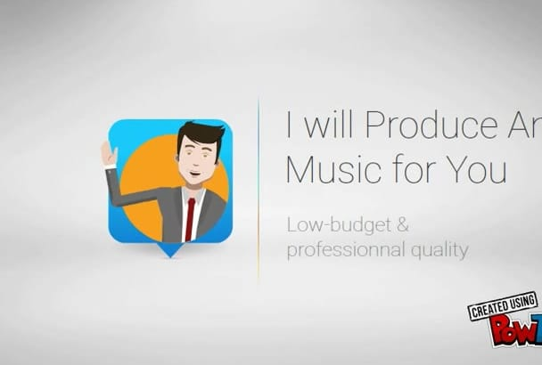 produce electronic or instrumental music for you for 5