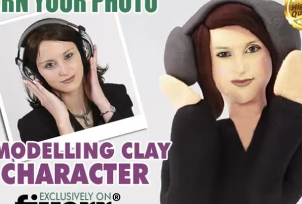 turn your photo into a modelling clay character