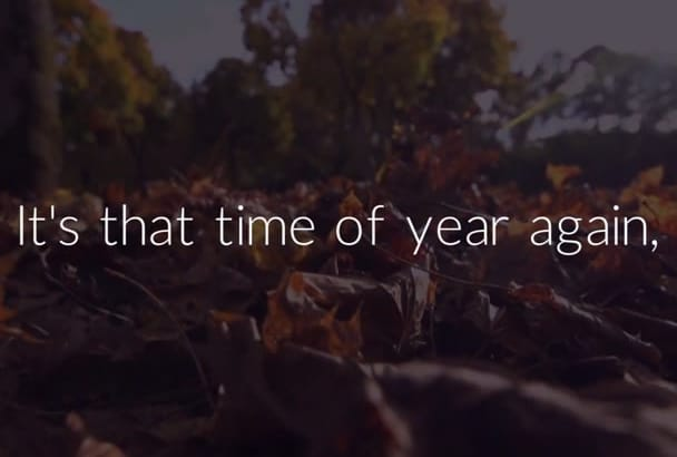 make your business an autumn fall promo video video
