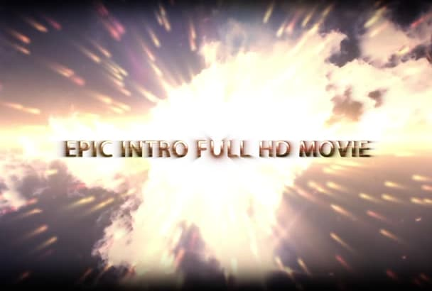 create an AMAZING epic intro video