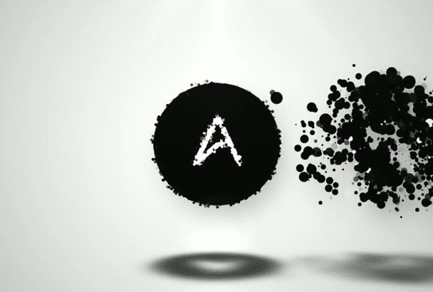 make Color Particles Logo Animation