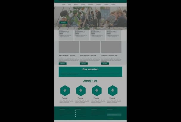 convert psd to html responsive landing page