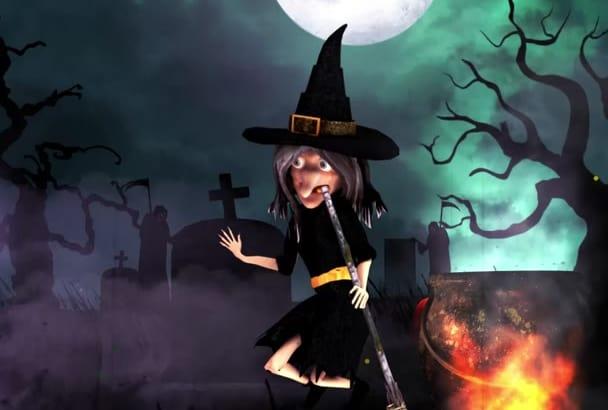 create a Halloween video invitation