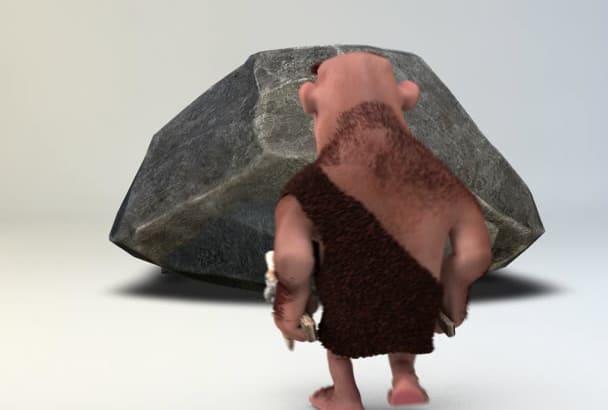 make caveman Intro in 1080p