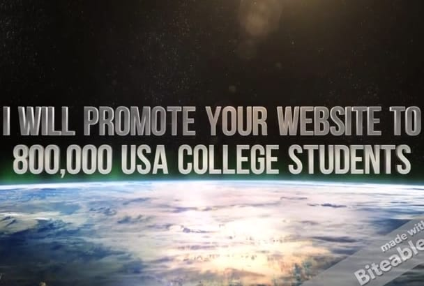 promote your website to 2,000,000 USA college students