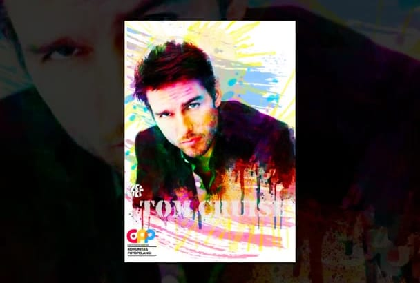 make your photo  colorful like rainbow color painting