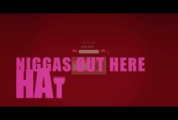do professional lyric video