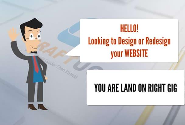 provide unique and creative website designing