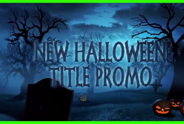 design a fantastic halloween titles promo