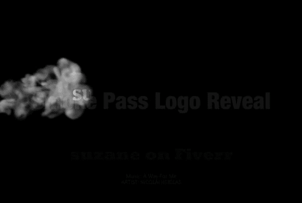 create a very realistic Passing Smoke Logo Reveal