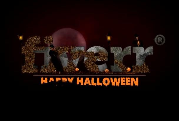 do Amazing Halloween logo intro video